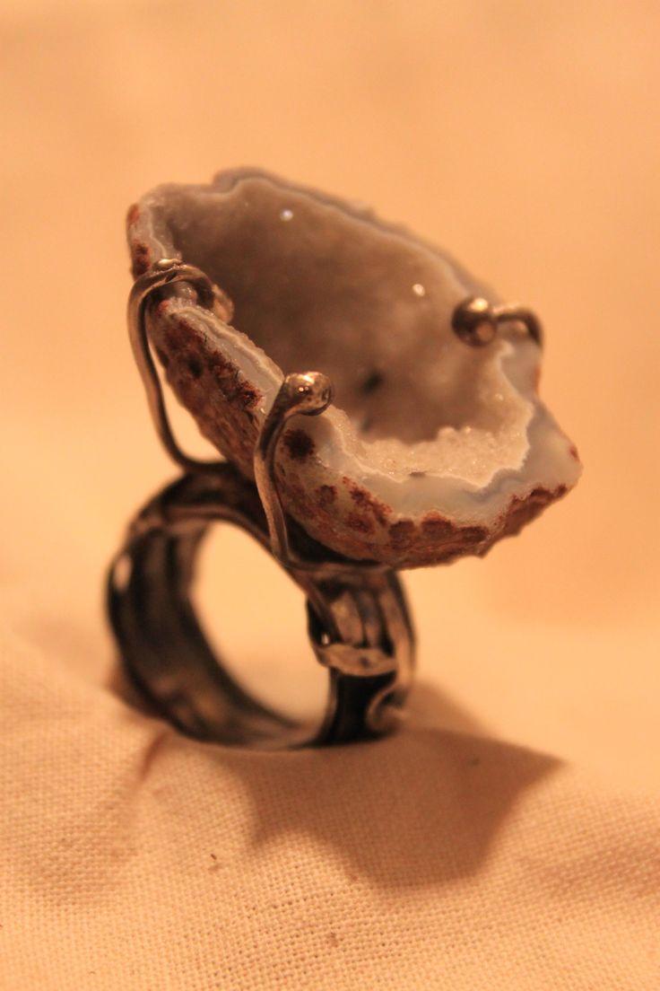 Anillo Geoda / piedra geoda mini