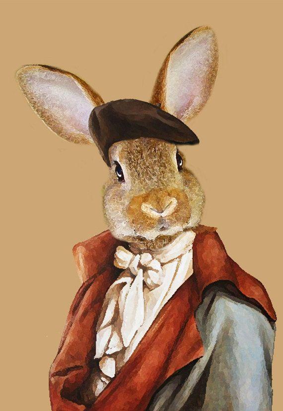 Drucken Sie Kaninchen, Kaninchen-Kunstdruck, Hase Bunny, drucken, Kaninchen, Hase Druck Kaninchen Wandbilder, 8 x 10, braun, Wand-Dekor, Geschenk für Männer
