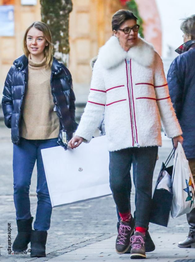 Princess Caroline with her daughter Princess Alexandra of Hannover. Gstaad / 28. Dezember 2016