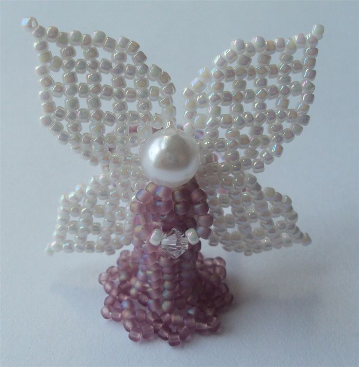 Frosted Purple Beaded Angel - Bead Magazine - Online Community, forums, blogs, and photo galleries