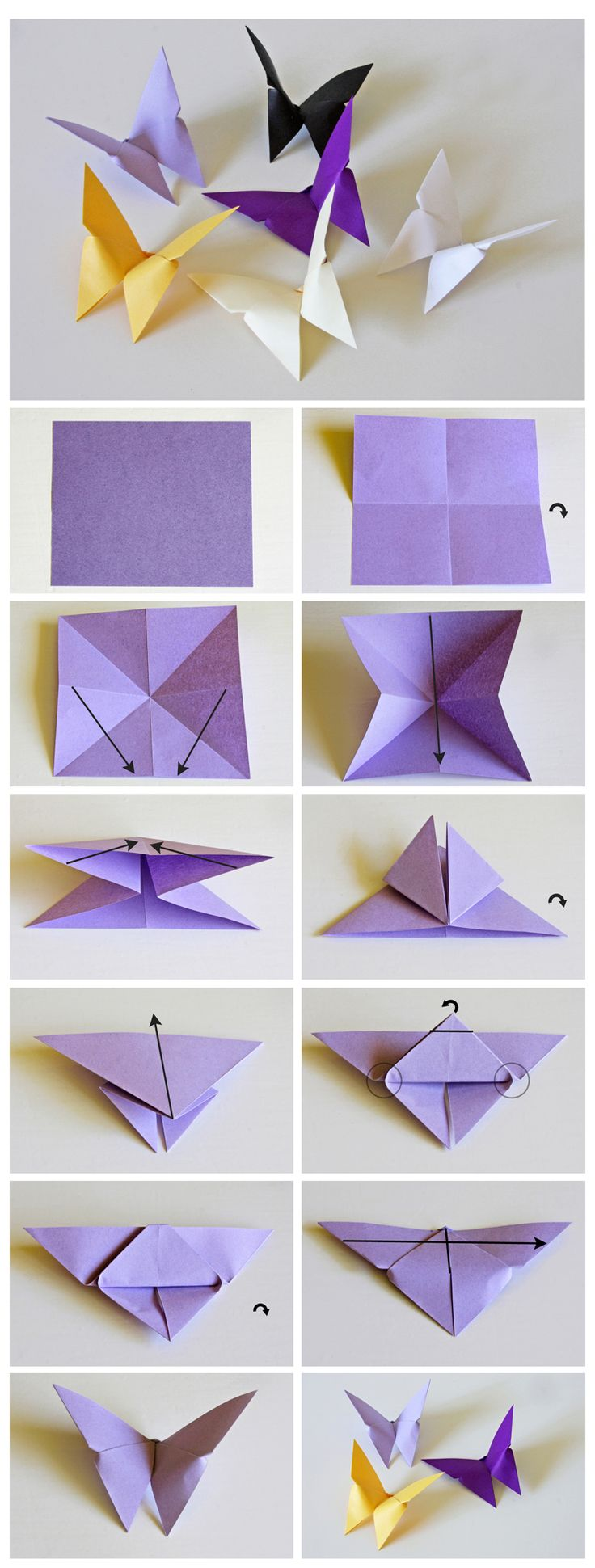 Resimli Origami Kelebek Yapımı