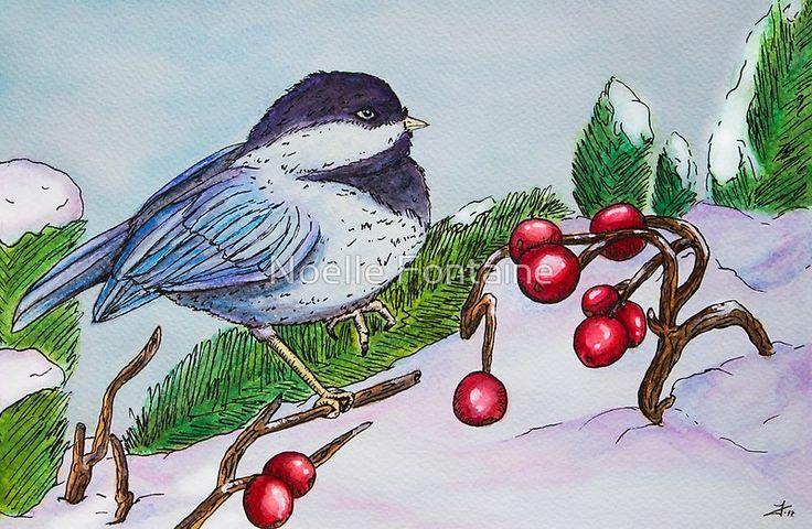 Chickadee - Winter Bird 1