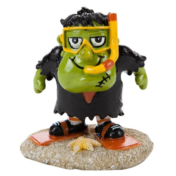 This monster is diving down for halloween fun top fin frankenstein halloween aquarium ornament - Fish tank christmas decorations ...