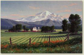'Mt. Baker Near Evening' by Randy Van Beek: Galleries, Randy Van, Evening, Mountain Art, Pictures, Baker