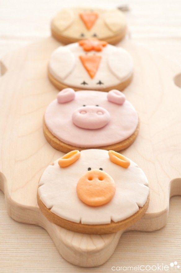 DIY Farm Animal Cookies