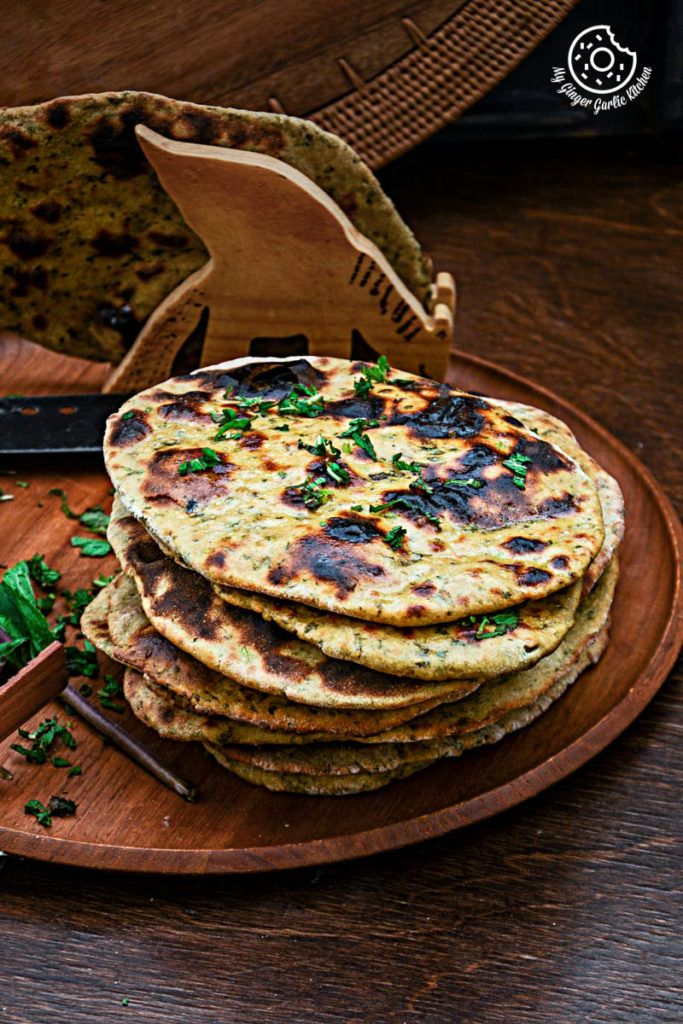 Mint Coriander Tandoori Roti   mygingergarlickitchen.com/ @anupama_dreams