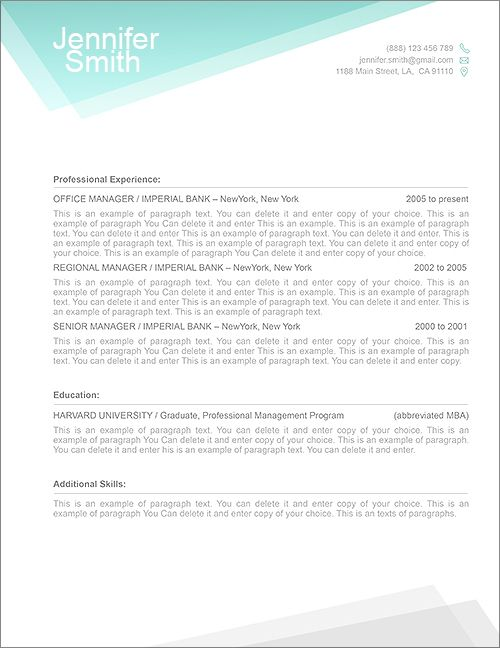 Resume With Picture Template 13 Best Free Resume Templates  Word Resume Templates Images On