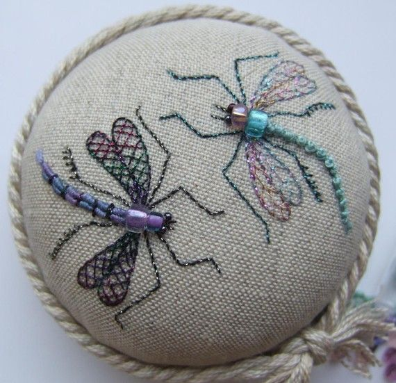 Dragonfly Duo Pincushion