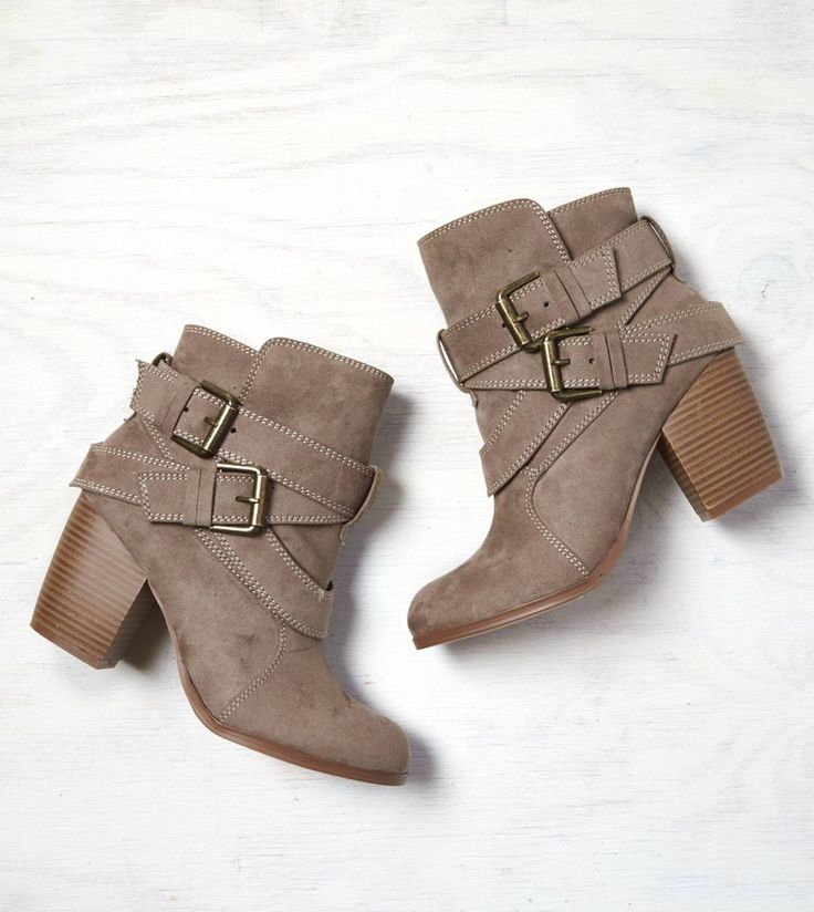 Double Wrap Bootie by American Eagle Outfitters in Taupe