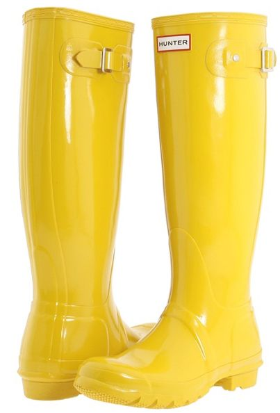 Yellow!!! Hunter Boots @Kristin Thompson this is the pair I want