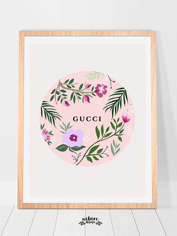 Gucci Wall Art Wall Art Floral Poster Printable Gucci Decor Gucci Inspired Gucci Design Downloadable Gucci Art Botanical Wall Art