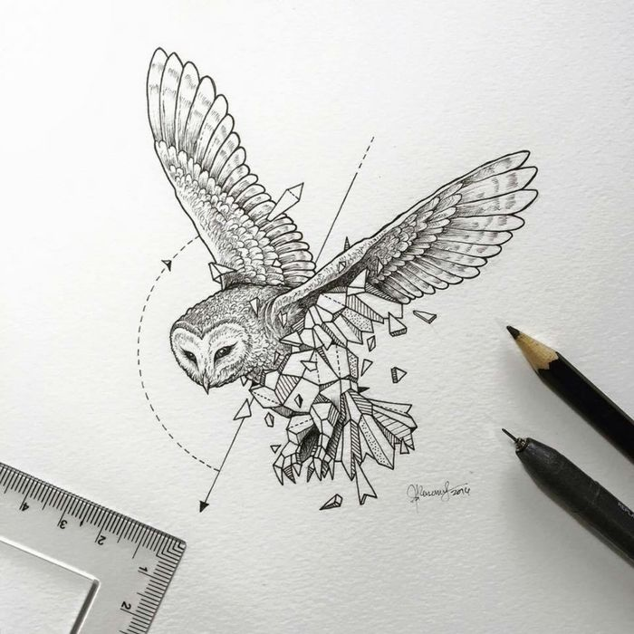 Geometric drawing in many inspirational examples – DIY Ideas