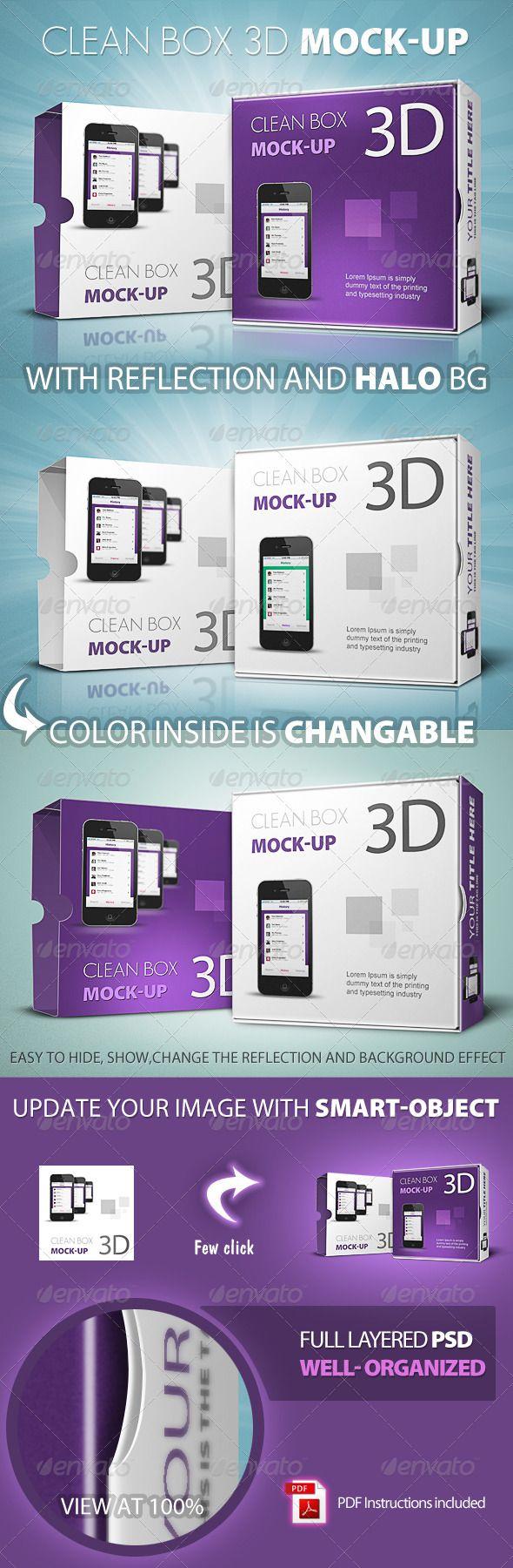 Clean Box 3D Mock-up