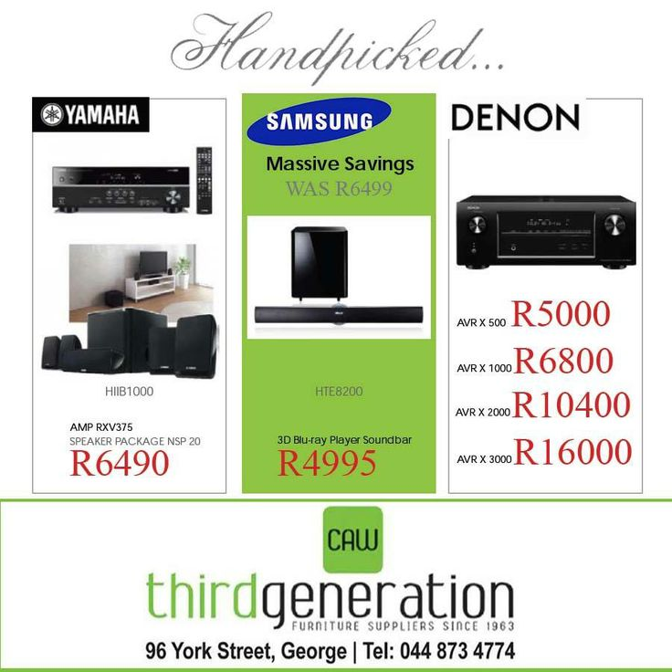 Stunning handpicked deals for you from CAW Third Generation - Valid until the 3 March 2014. Don't miss out! #specials #3gcaw