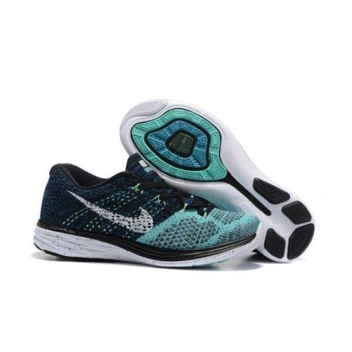 Nike Dámské - Dobry Nike Flyknit Lunar 3 Dámské Běžecké Boty Černá Mint Zelená 1155