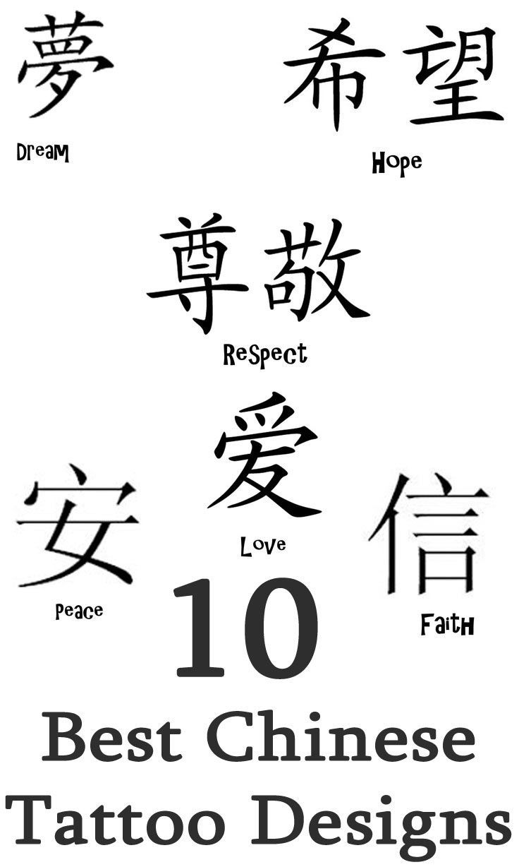 1000 Ideas About Chinese Tattoos On Pinterest Old School