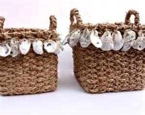 oyster shell baskets by susana