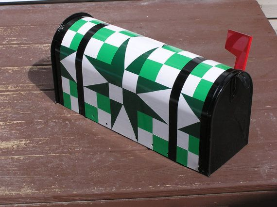 5440 OR FIGHT Quilt Pattern Hand Painted Mailbox by CedarBreezes, $54.00
