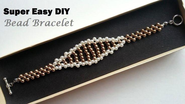 DIY Elegant Bracelet. Easy beading tutorial. Beginners beading pattern
