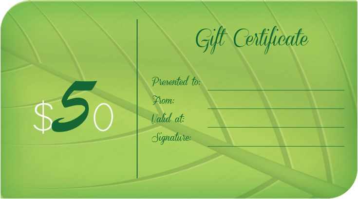 Green leave gift certificate template #giftcard - play ticket template