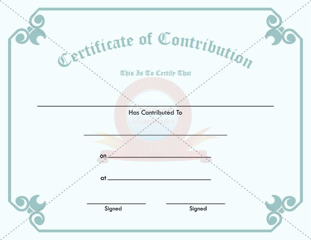 30 best CONTRIBUTION CERTIFICATE TEMPLATES images on Pinterest - anniversary certificate template