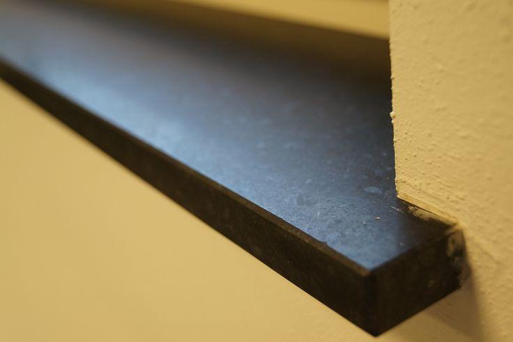 Natuursteen maatwerk - Olivian Black Basalt vensterbanken - Gezoet