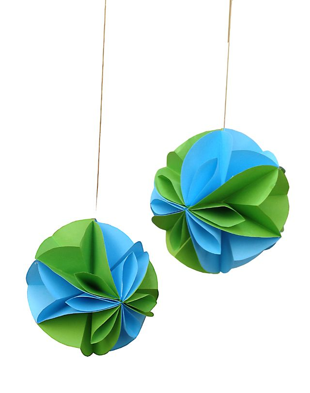 Paper Party Decorations; Floral Globe for the Succah