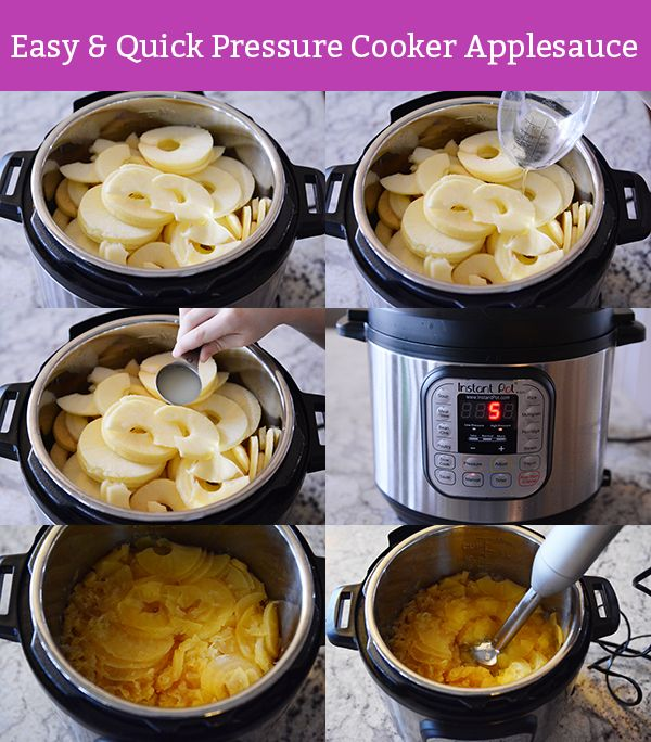 Quick and Easy Pressure Cooker Applesauce | Mel's Kitchen Cafe