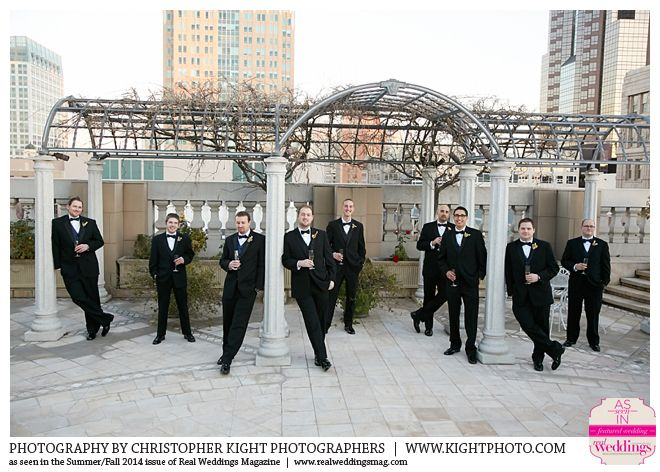 New Year S Eve Wedding At The Sacramento Grand Ballroom Groomsmen On Roof Top