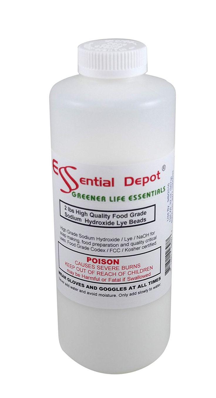 Pure lye drain cleaner opener 2 lbs