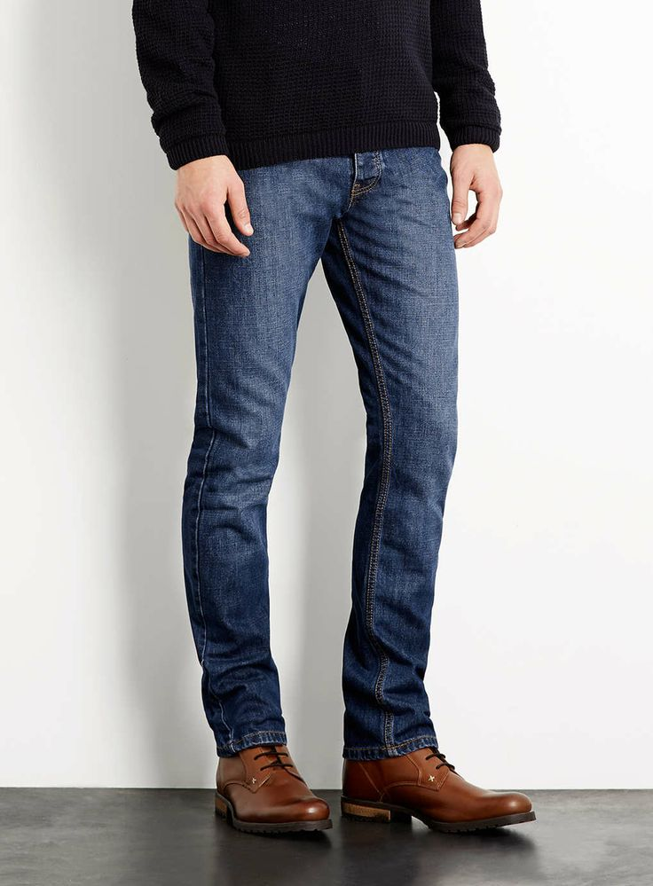 Mid Wash Vintage Slim Jeans - Men's Jeans - Clothing - TOPMAN