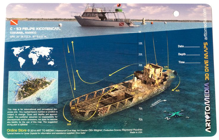 47 best images about shipwreck and reef dive maps on - Cozumel dive sites ...