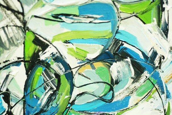 """Написала абстракцию масляными красками для проекта """"Вода"""" 2017 """"Water"""" 2017 от галереи Colors of Humanity Art Эверетт (Вашингтон) /Америка штат Пенсильвания  Вода покрывает 71% земной поверхности и необходима для жизни.96,5% водных запасов сосредоточено в морях и океанах. #colorsofhumanityartgallery #water #gallery #art #paintinggallery #oil #oilpaint #kartavayaolya #kartavaya #artist #artistkartavaya #galleryart #artgallery #painter"""