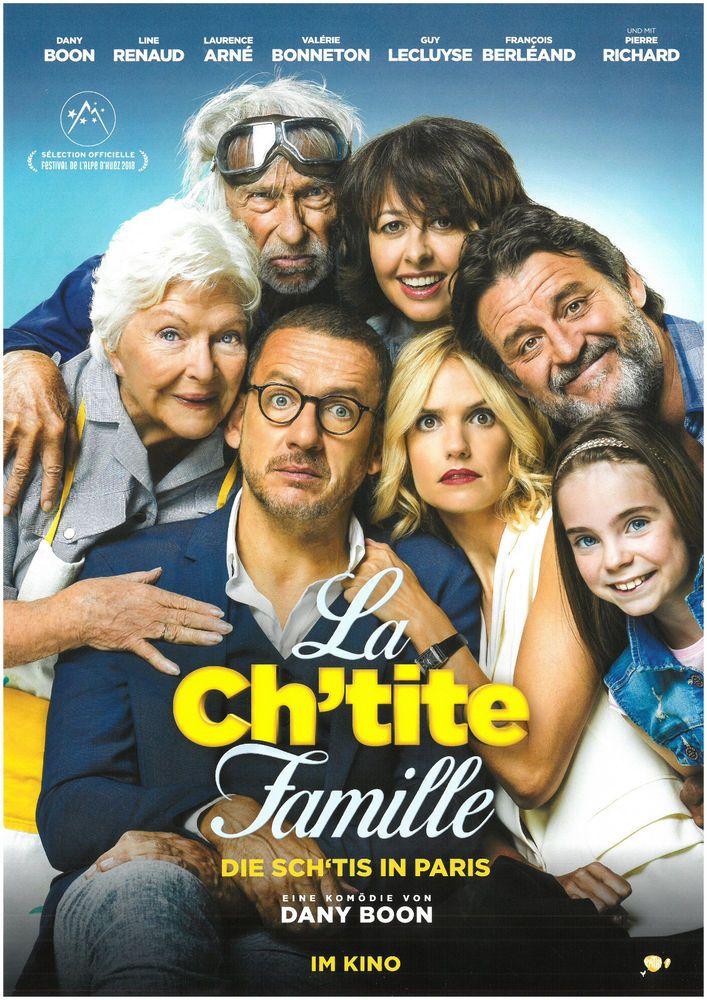 LA CH'TITE FAMILLE - DIE SCH'TIS IN PARIS 2018 - ORIG. FILMPOSTER A4 CINEMA AD