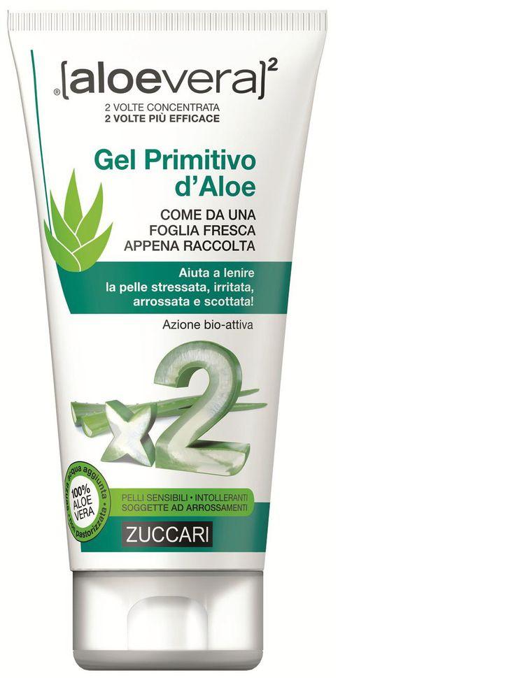 nuova linea Aloevera al Quadrato di Zuccari il nuovo Gel Primitivo d'Aloe per la protezione e il trattamento della pelle di tutti i giorni, post-depilazione