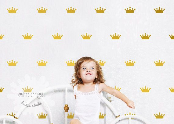 Crown Wall Decal / Crown Decal / Gold Crown by OhongsDesignStudio