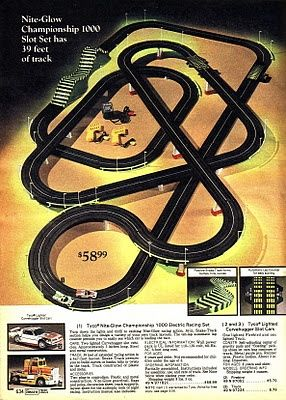 Tyco slot car racing set