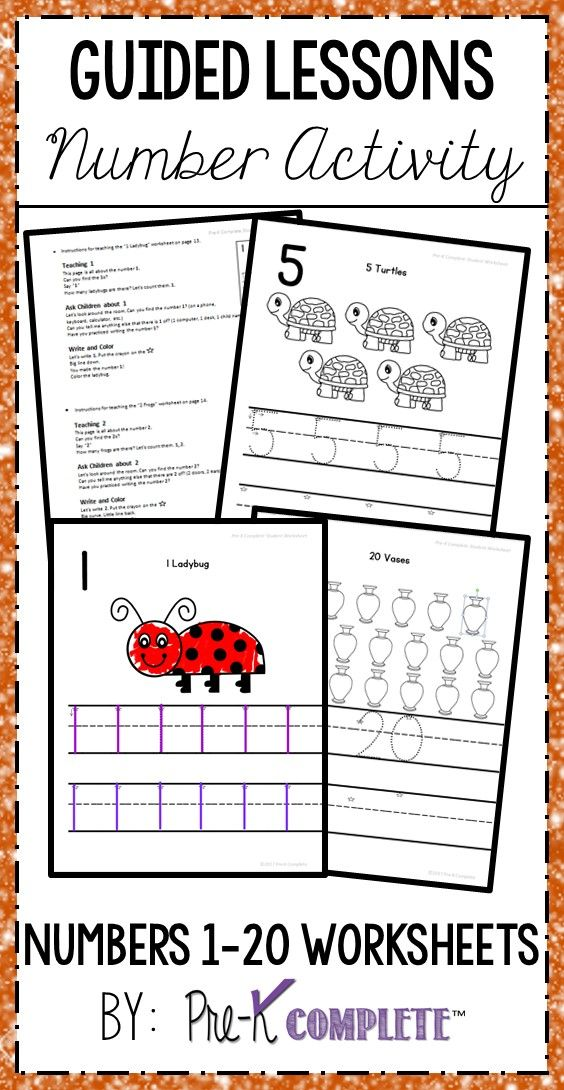Numbers 1 20 Worksheets With Guided Lessons 3 Writing Lines Pre