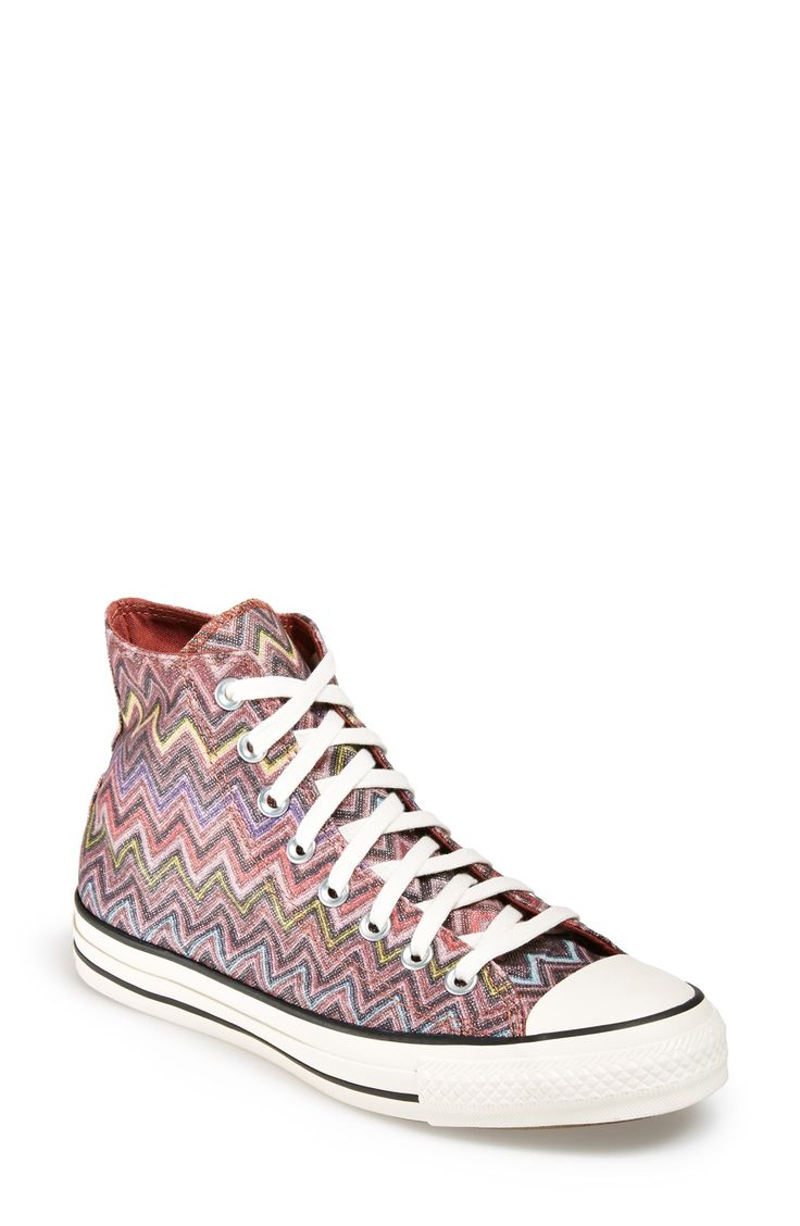 Converse x Missoni Chuck high-tops.