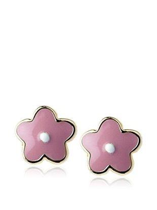 54% OFF Frida Girl Pink Flower Enamel Earrings
