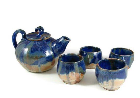 Grosse Keramik Teekanne Set Handgemachte Keramik Rad Geworfen Steinzeug Ton Teekanne Und Tee Ceramic Teapot Set Ceramic Teapots Tea Pots