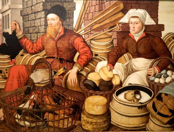 Jan_van_Horst_-_Market_Scene.jpg (3163×2406) hinged solid lid on the poultry basket