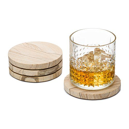 Granisand Natural Sandstone Coasters (Set of 4) (Multicolor). Absorbent SandStone viably assimilates all buildup dribbling from chilly beverages Smooth Surface, does not adhere to the base of the glasses! Furthermore, they demonstrate the common variety in the stone Set of 4 Sandstone Coasters. Blessing Worthy., best offer