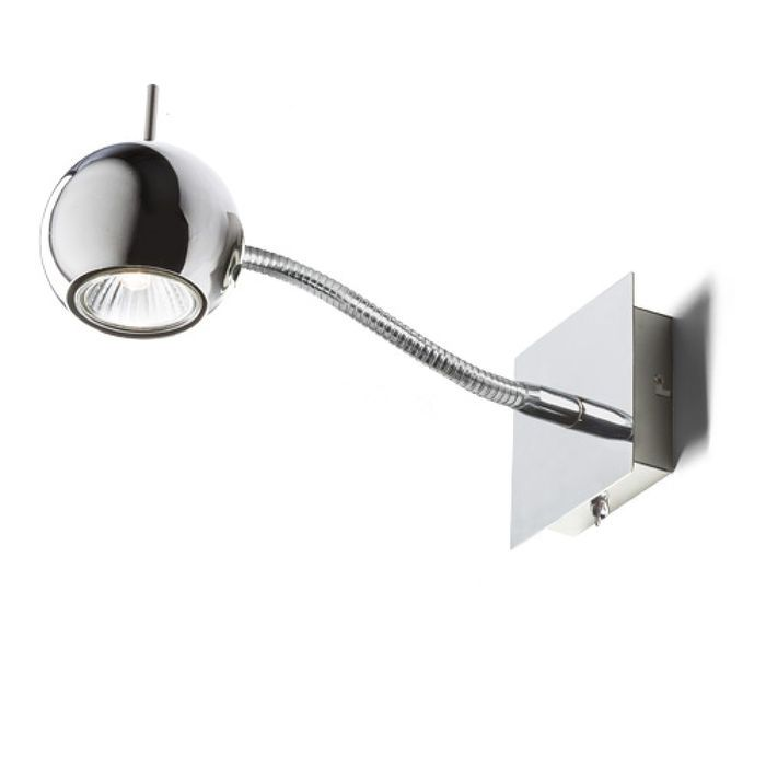 GLOSSY ON A GOOSE NECK | rendl light studio | Wall light with a directional reflector. The light can be controlled by a toggle switch at bottom of the fixture. #lights #interior #spotlights #wall