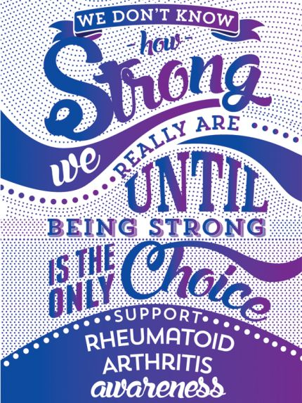 Inspired Cases How Strong - Rheumatoid Arthritis Awareness Case for Galaxy S5 Inspired Cases