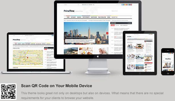 PrimeTime - Clean Responsive WP Magazine - prowordpress.org