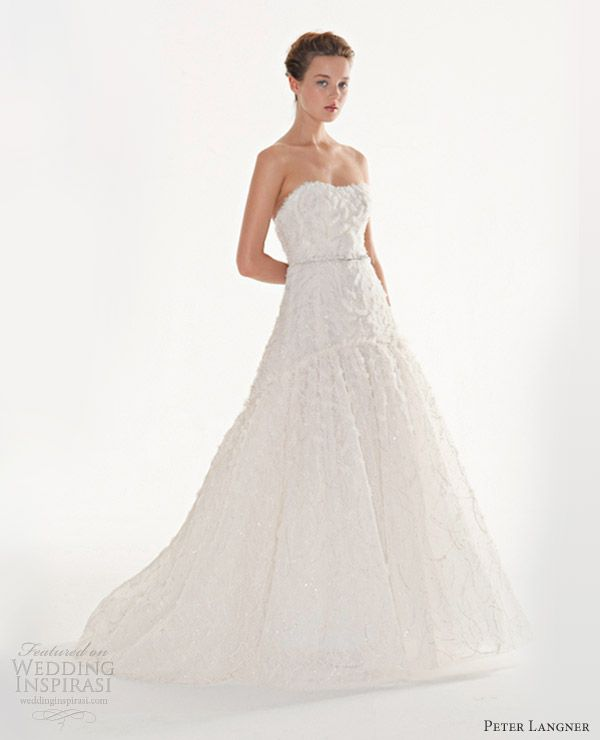 peter langner couture wedding dresses 2013 incanto strapless gown