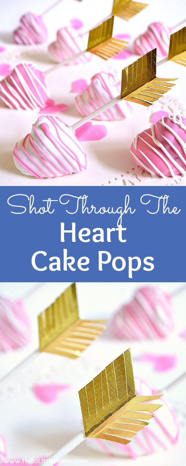 How to Make Heart Shaped Cake Pops! These DIY Heart Cake Pops are a beautiful Valentine's Day dessert idea that's perfect for kids, adults, bridal showers, and even weddings! Follow this easy Heart Cake Pops recipe and tutorial for the most adorable Valentine's Day treat you can imagine! | Hello Little Home