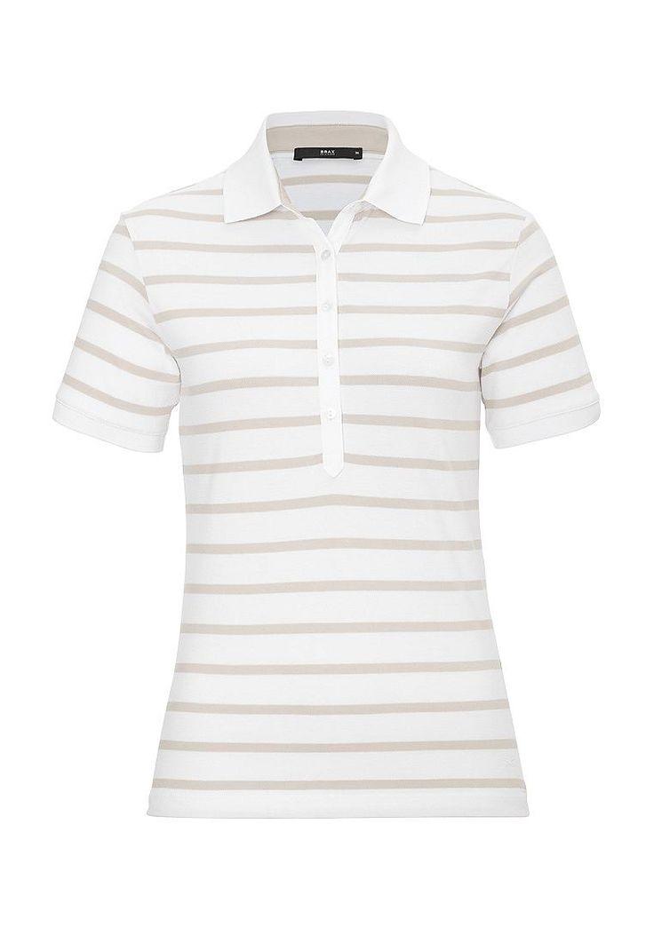 Nicht nur sportiv, sondern auch modisch frisch. Dieses Damen-Poloshirt ist mit seinem frischen Streifenlook der richtige Farbtupfer für die neuen leichten Baumwollhosen oder der modernen Jeans. Damit empfiehlt sich das Polo als perfekter Begleiter für tolle Sommertage.  Form:  Material: angenehmer Stretchkomfort durch 3%-igen Elasthananteil, farb- und formbeständig, softer Griff, hautsymphatisc...