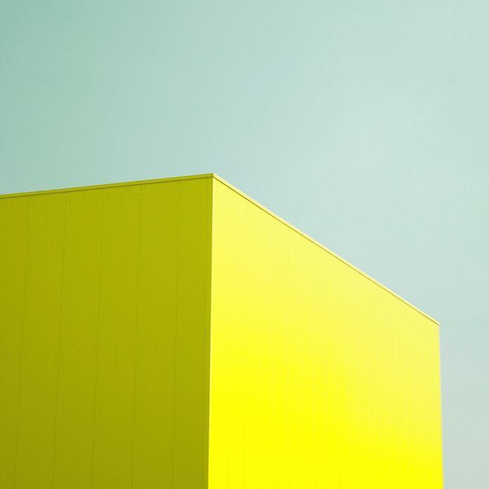 Aqua & acid yellow.